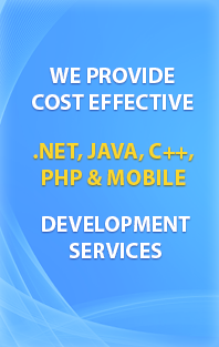 We provide cost effective .NET, JAVA, C++, PHP & Mobile development services