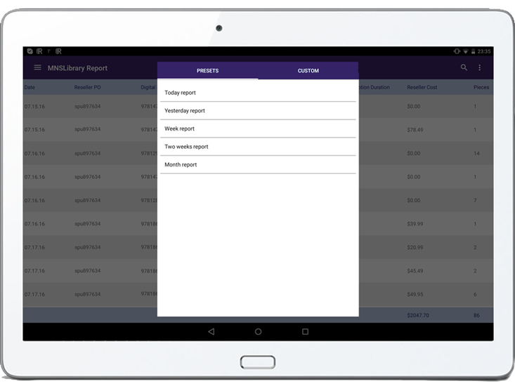 Development of Sales Reporting Application on Android | Case