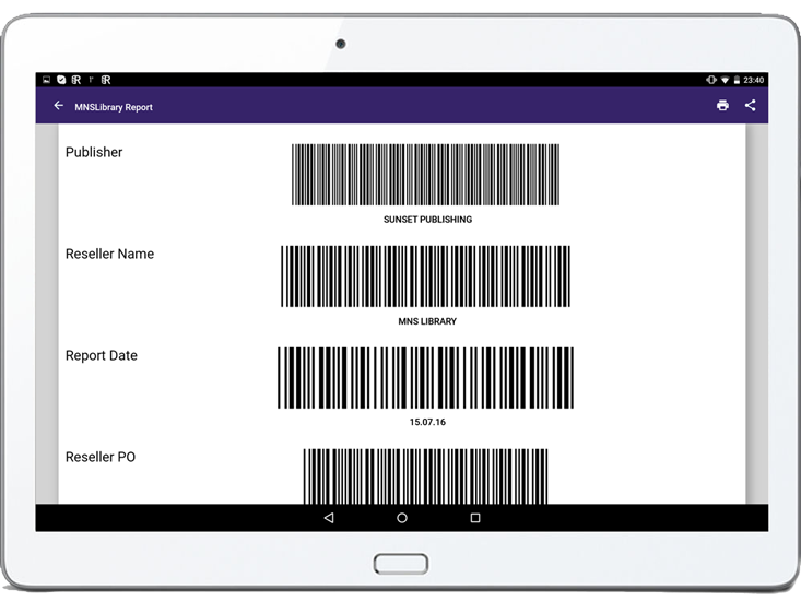mobile app for sales reporting