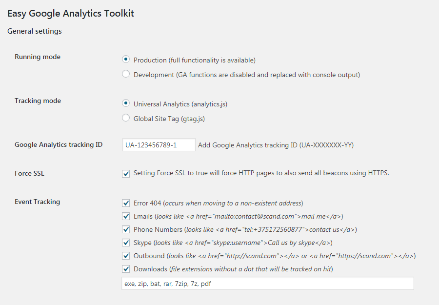 Easy Google Analytics Toolkit for WordPress| SCAND