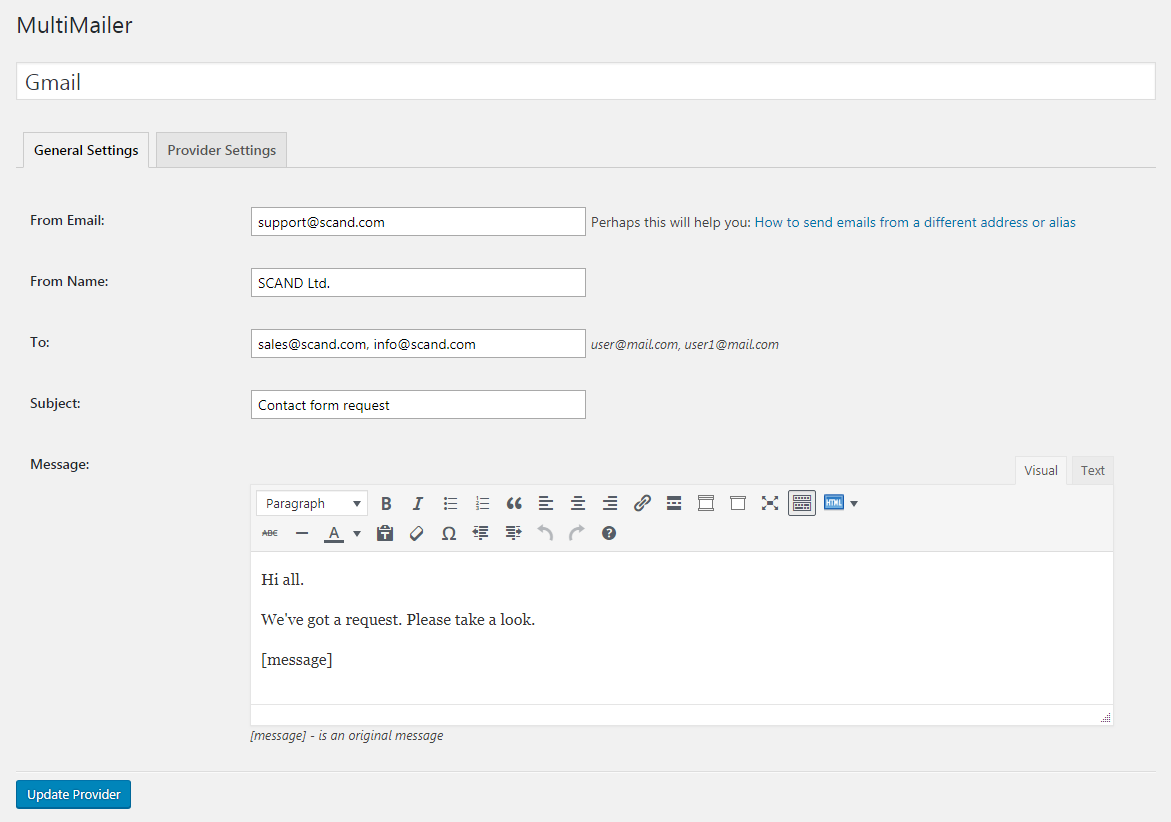 WP MultiMailer - WordPress SMTP Mail Plugin | SCAND